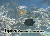 Photo Poster Happiness depends on ourselves Inspirational Quote