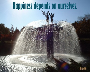 Photo Poster Happiness depends on ourselves - Inspirational Quote