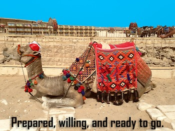 Photo Poster Prepared, willing, and ready to go Inspirational Quote