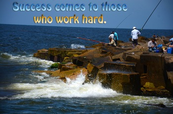 Photo Poster Success comes to those who work hard Inspirational Quote