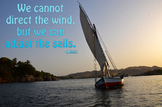 Photo Poster We cannot direct the wind  Inspirational Quote
