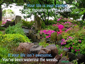 Photo Poster Your life is your garden Inspirational Quote