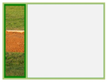 Photo Products - Baseball Field With Green Accent Theme