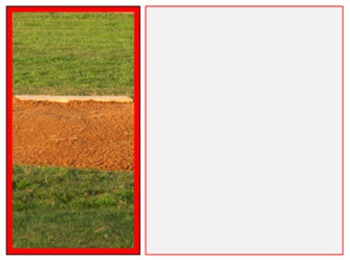 Photo Products - Baseball Field With Red Accent Theme