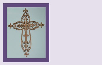 Photo Products - Wooden Cross Purple Theme