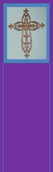 Photo Products - Wooden Cross Purple and Blue Theme
