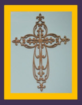Photo Products - Wooden Cross Purple and Yellow Theme