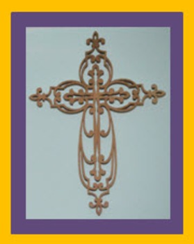 Photo Products - Wooden Cross  Yellow and Purple Theme