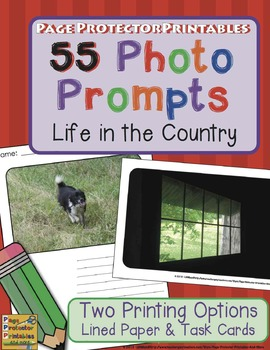 Photo Prompts: Life in the Country {Lined Journals and Task Cards}