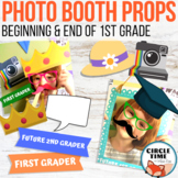 1st Grade Photo Booth Props, Back 2 School Open House Activities End of Year