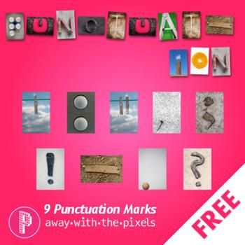 Photo Punctuation Marks to Accompany Photo Alphabet