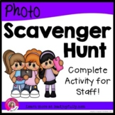 Photo Scavenger Hunt for Staff (Ready-to-go for Principals