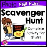 Photo Scavenger Hunt for Staff (FALL FUN!) Using QR CODES