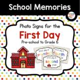 First Day of School Signs FREE