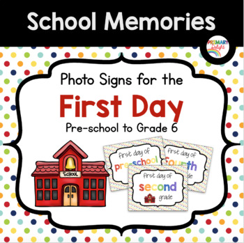 Photo Signs for the First Day of School