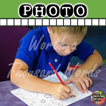 Photo: Student Coloring Space Worksheet