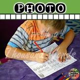 Photo: Student Doing Addition Worksheet