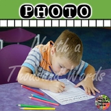 Photo: Student Doing First Grade Coloring Worksheet