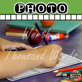 Photo: Student Doing Worksheet
