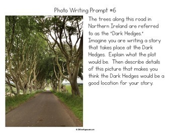 Photo Writing Prompts Bundle: Quick & Fun Prompts About 20 Photos