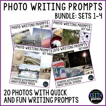 Photo Writing Prompts Bundle 1: Quick & Fun Prompts About