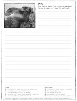 Photo Writing Prompts - Free (Grades 6, 7, 8)