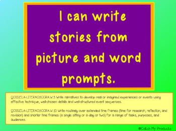 Writing Prompt Photos in Power Point