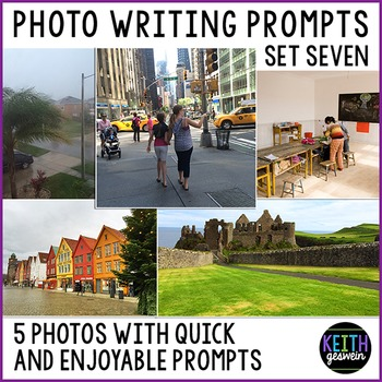 Photo Writing Prompts Set 7: Quick & Fun Prompts About 5 Photos