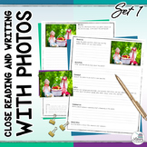 Close Reading and Writing with Photos: Photo Writing Prompts (Set 1 - Autumn)