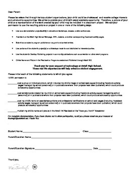 Photo and Student Project Release Form