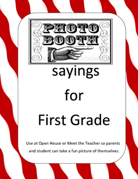 Photo booth sayings for First Grade