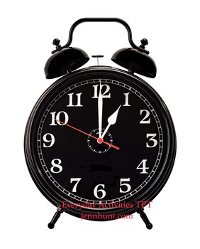 Photo of Bell Clock at 1:00p.m. 1:00a.m., Time Telling, Analog Time Pinterest