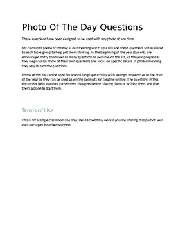 Photo of The Day Questions