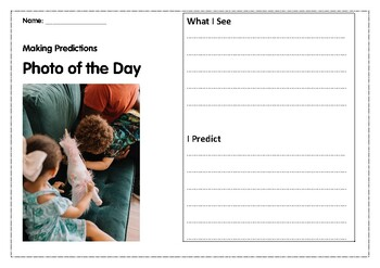 Photo of the Day Making Predictions- TWO WEEKS of Warm-ups