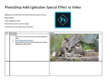 PhotoShop CS5 CS6 Add Lightsaber to Video Clip Add special effect to a Movie