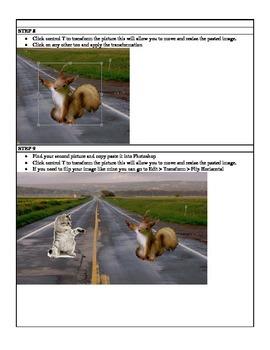 PhotoShop CS5 CS6 Combine Multiple Images with Shadows Lesson