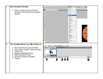 PhotoShop CS5 CS6 Create Animated GIF project Step by Step directions