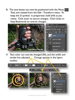 PhotoShop CS6 - Instructional Watermark Lesson