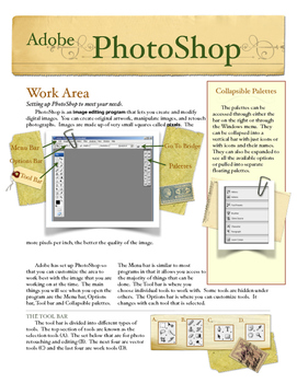 PhotoShop Work Area and Selection Notes