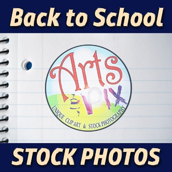 """""""Back to School"""" Photograph - Stock Photo - Close Up of Notebook Paper 2"""