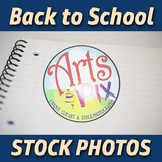 """""""Back to School"""" Photograph - Stock Photo - Close Up of Notebook Paper"""