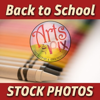 """Back to School"" Photograph - Stock Photo of Crayons - arranged diagonally 2"