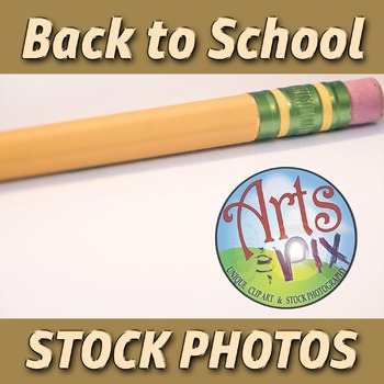 """""""Back to School"""" Photograph - Stock Photo of Pencil - Top of frame"""