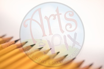 """Back to School"" Photograph - Stock Photo of Pencils arranged diagonally"