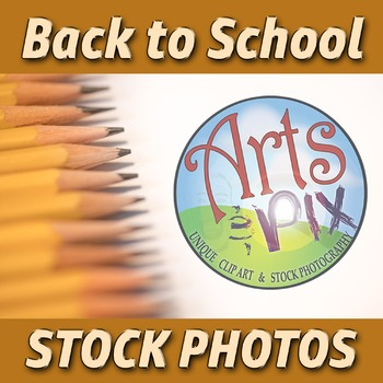 """Back to School"" Photograph - Stock Photo of Pencils arranged on left side"