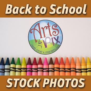 """""""Back to School"""" Photograph - Title Background Stock Photo of Crayons"""