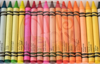 """""""Back to School"""" Photograph - Title Background Stock Photo of Crayons 2"""