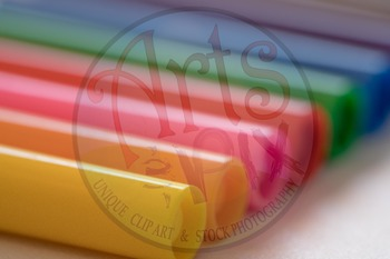 """""""Back to School"""" Photograph - Title Background Stock Photo of Markers - Close Up"""
