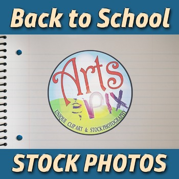 """""""Back to School"""" Photograph - Title Background Stock Photo of Notebook Paper"""