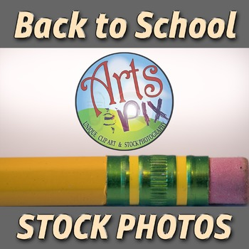 """""""Back to School"""" Photograph - Title Background Stock Photo of Pencil - Close UP"""